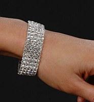 5 Row Rhinestone Bracelet