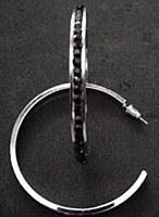 Black Rhinestone Hoop Earrings