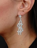Dollar SIgn Rhinestone Earrings