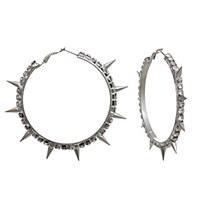 Rhinestone Spike Earrings