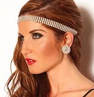 5 Row Rhinestone Headband