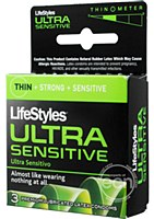Lifestyles Ultra Sensitive Lubricated Condoms 3 Pack