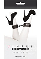 Black Sinful Ankle Cuffs