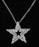 Rhinestone Star Charm Necklace