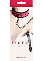 Sinful Vinyl  Adjustable Collar Pink