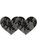 Black Lace Heart Nipple Pasties