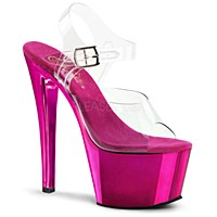 Hot Metallic Pink Platforms With Ankle Straps