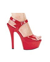 Red Patent Leather Platforms