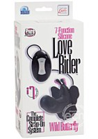 7 Function Silicone Love Rider Wild Butterfly Stimulators Black
