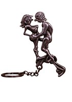 X-Rated Man Woman Keychain