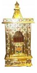 BRASS MEENAKARI CLOSED REGULAR MANDIR 15X12