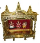 BRASS MEENA CLOSE REGULAR MANDIR 36x24