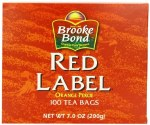 BROOKE BOND RED TEA BAGS 100 CT
