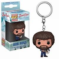 Pocket Pop Bob Ross Fig Keycha