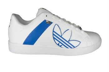ADIDAS Bankment Evolution white/white/blue bird Mens Skate Shoes 11.0