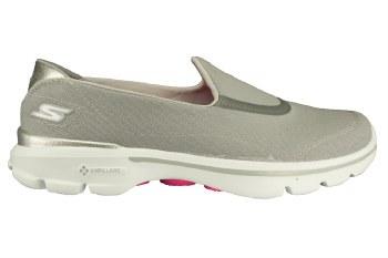 SKECHERS Go Walk 3-Spring Lite grey Womens Slip-On Walking Shoes 07.5