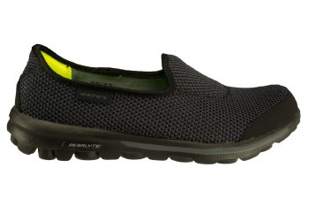 SKECHERS Go Walk-Rival black/grey Women 's Slip-On Walking Shoes 06.0