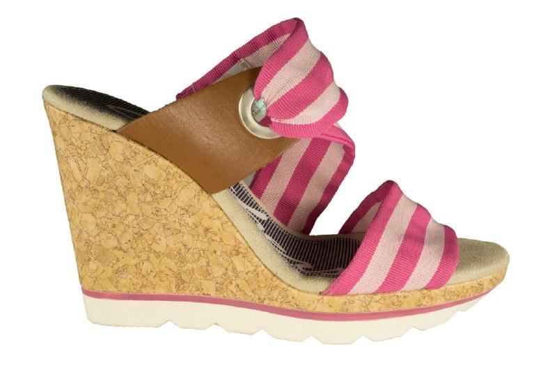 Skechers Cali Cutting Edge Slide Bar Pink Womens Wedge Sandals 08