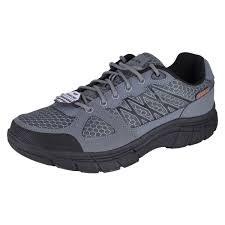 Skechers Conroe Dierks Grey Black Slip Resistent Mens Work Shoe 77084/GYBK 07.5