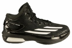 ADIDAS Crazy Light Boost black/white/black Big Kid's Basketball Shoes 3.5