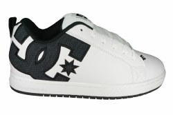 DC Court Graffik SE white smooth Mens Skate Shoes 09.0