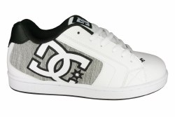 DC Net SE white/light grey Mens Skate Shoes 09.0