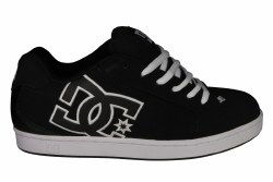 DC Net black/black/white Mens Skate Shoes 07.5
