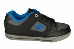 DC Pure SE black/grey/blue Big Kids Skate Shoes 5.5
