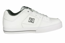 DC Pure white/battleship/white Men's Skate Shoes 08.0