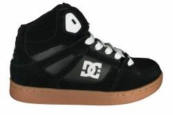DC Rebound black/gum Big Kids Skate Shoes 5.0