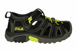 FILA Gripper Lite black/lime punch/castlerock Little Kids Sandals 011.0