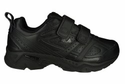 FILA Memory Capture 2 Strap 4E wide black/black/black Mens Walking Shoes 08.0