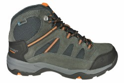 HI-TEC Bandera Mid II charcoal/graphite/burnt orange Mens Waterproof Hiking Boots 07.5