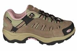 HI-TEC Bandera low taupe/pink Womens Waterproof Hiking Shoes 07.0