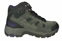 HI-TEC Logan Mid WP charcoal/purple Womens Waterproof Hiking Boots 07.0