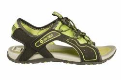 HI-TEC Turtle Beach-black/chartreuse Big Kids Sandals 4