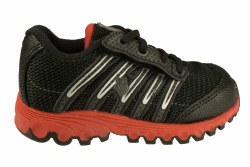 K-SWISS TubesRun 100-black/silver/true red Toddlers Running Shoes 02