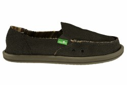 SANUK Donna Hemp black Womens Sidewalk Surfers 06