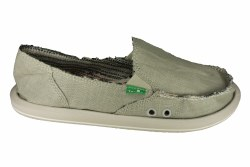 SANUK Donna Hemp olive grey Womens Lifestyle Shoes 11.0