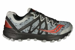 SAUCONY Caliber TR grey/black/red Mens Trail Running Shoes 11.0