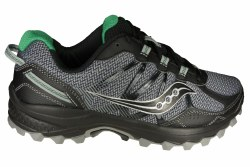 SAUCONY Excursion TR11 wide grey/black/green Mens Trail Running Shoes 08.0