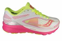 SAUCONY Kinvara 7 white/pink/citron Womens Running Shoes 07.0