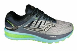 SAUCONY Triumph ISO 2 grey/blue/slime Womens Running Shoes 07.5