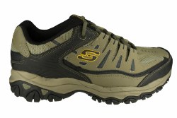 SKECHERS After Burn Memory Fit 4E wide pebble/black Mens Training Shoes 08.0