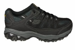 SKECHERS After Burn Memory Fit 4E wide black/charcoal Mens Training Shoes 08.0