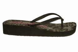 SKECHERS Cali Beach Read-Havanas black Womens Thong Sandals 08