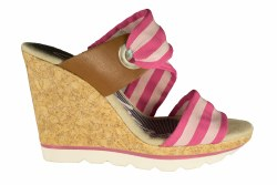 SKECHERS Cali Cutting Edge-Slide Bar pink Womens  Wedge Sandals 08