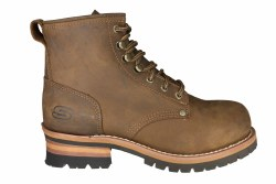 SKECHERS Cascades dark brown Mens Logger Boots 10.5