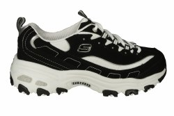 SKECHERS DLites-Biggest Fan wide black/white Womens Training Shoes 06.0