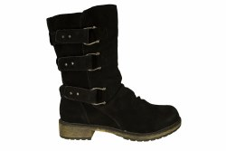 SKECHERS Donna-Horseshoe black Womens Boots 08.5